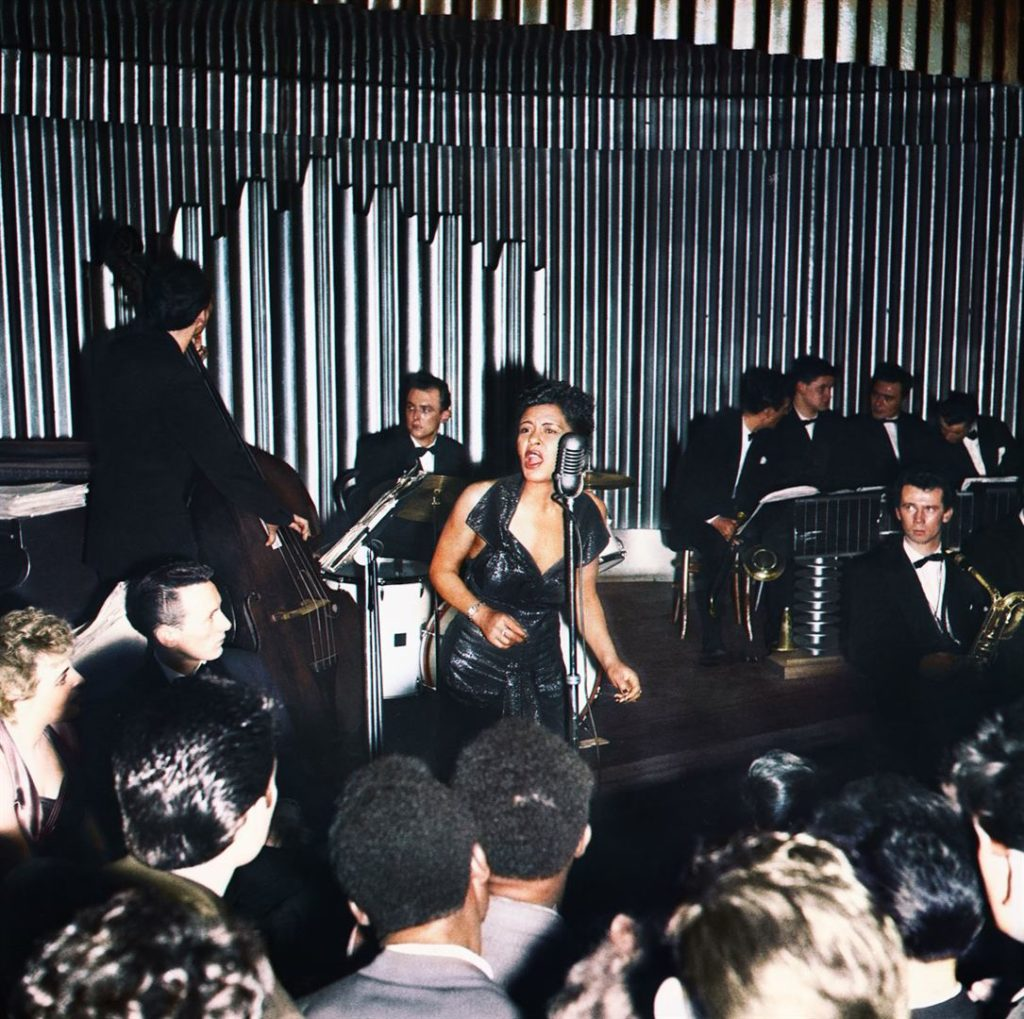 Billie Holiday qui chante